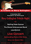 Rory Gallagher Tribute Night Live